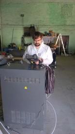 Робот для окраски кухонных фасадов с системой смены цвета