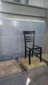 4 робота - окрасочный комплекс для стульев из массива